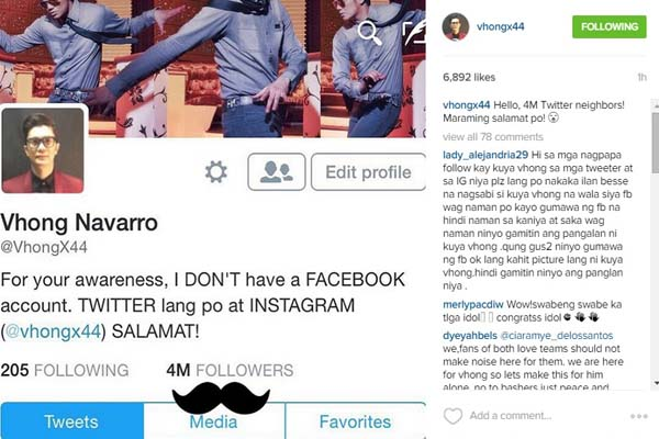 Vhong Navarro Is Thankful For His 4m Ig Followers Newsko Newsko